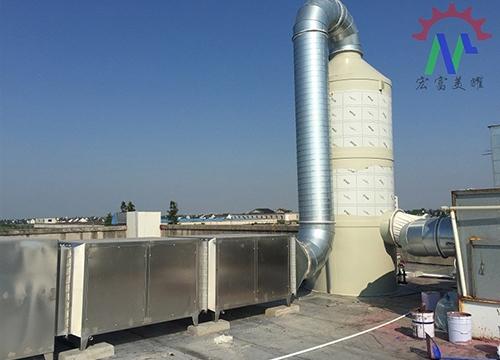 喷淋洗涤塔+光媒处理环保设备